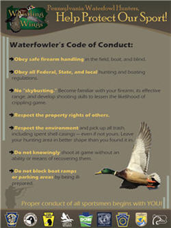 Waterfowler's Code Of Conduct