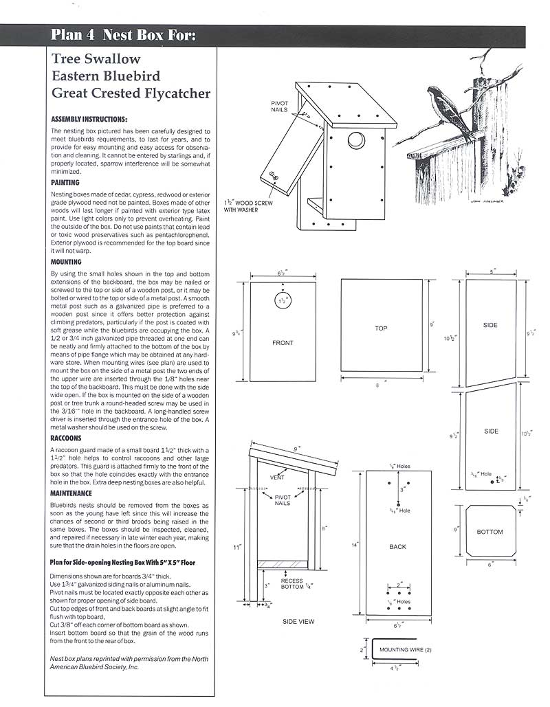 Wildlife Home Plans on bluejay bird house plans, woodpecker bird house plans, horned owl bird house plans, bat bird house plans, house finch bird house plans, moose bird house plans, duck bird house plans, western bluebird bird house plans, brown-headed cowbird bird house plans, hummingbird bird house plans,