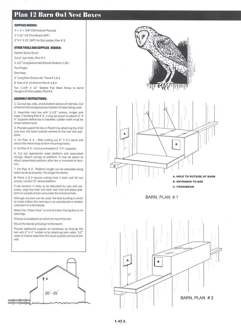 plan 12 barn owl nest boxes 1 of 2 image